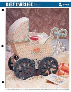 Baby Carriage Basket Annie's Plastic Canvas Pattern | eBay