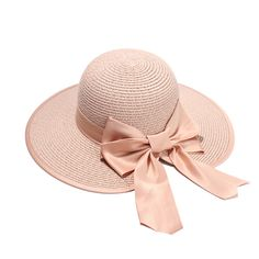 Women Summer Sun Hats With A Wide Brim Ladies Elegant Bow Straw Hat Holiday Beach Caps Sombrero Mujer