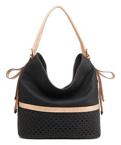 Look what I found on #zulily! Black Stripe Hobo #zulilyfinds