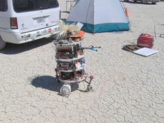 """This is """"Springy Thingy"""" at Burningman."""