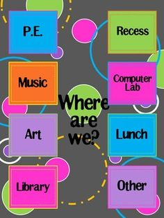 Where Are We sign to put outside your classroom so others will be able to find your class if needed. This file is editable to personalize it just…
