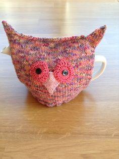 Owl Tea Cosy novelty tea cosy teapot cozy house by ChrisKnitsBits
