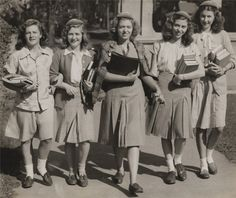 Syracuse University, 1946. Girls used to have some class. It doesnt mean you have to wear a skirt. It means that you hold yourself to a standard.