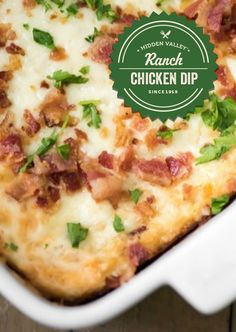 The Sriracha Ranch Bacon Dip of your dreams.   Full recipe: http://hiddnval.ly/XZUgmq