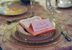 Pink and gold place setting by Simply Mox. Photo by Legacy Photography. #wedding #placesetting #pink #gold