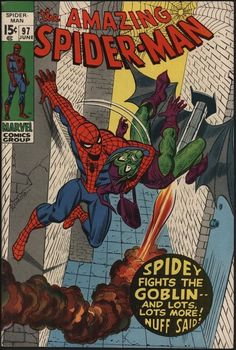AMAZING SPIDER-MAN #97 VS GREEN GOBLIN DRUGS ISSUE! 9.0 CENTS WITH WHITE PAGES