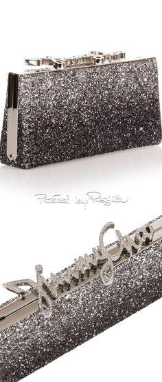 Regilla ⚜ Jimmy Choo Jimmy Choo Sunglasses, Gucci Clutch, Unique Purses, Jimmy Choo Shoes, Luxury Jewelry, Handbag Accessories, Evening Bags, Black Silver, Silver Style