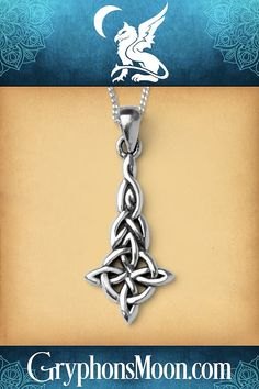celtic necklace made in Scotland Handcrafted silver one of a kind moonstone