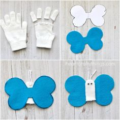 Try these DIY butterfly finger puppets! Your sponsor child's day will be made when they open a letter with this craft inside! // World Help     child sponsorship, kids crafts, rainy day fun, ideas, mail
