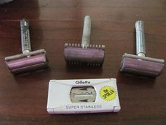 Vintage Razors moustache trimmer and a pack of by VintageJanieG, $21.95