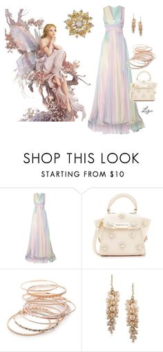 """""""Peaceful"""" by coolmommy44 ❤ liked on Polyvore featuring Zuhair Murad, ZAC Zac Posen, Red Camel, Carolee and Van Cleef & Arpels"""