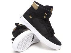 "Supra VAIDER ""MIDAS"" Men's Sneakers  Black/Gold US 13 M(D) MSRP $120.00  #Supra #FashionSneakers"