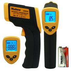 Amazon.com: Nubee® Temperature Gun Non-contact Infrared Thermometer w/ Laser Sight MAX Display and Emissivity Adjustable: Automotive