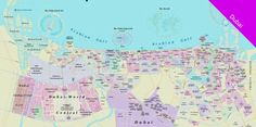 Maps Of Dubai Hotels, Atrractions, and Shopping Centers