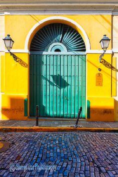 Colourful doors.. San Juan, Puerto Rico. Photo by George Oze