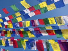 Colourful Prayer Flags, Bodhnath Stupa, Kathmandu, Nepal