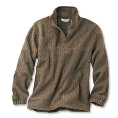 Just found this Mens Fleece Sweater - Suede-Trimmed Snap Fleece -- Orvis on Orvis.com!