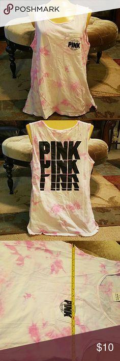 Victoria Secret  tank top shirt PINK size small Victoria secret tank top/ Size small Victoria's Secret Tops Tank Tops