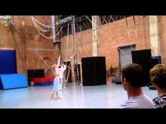 Aerial Straps and cyr wheel duet by Giorgia Davies and Kieran Warner