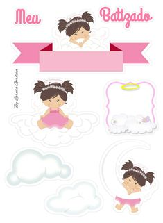 Baby Shawer, Paper Dolls, Christening, Scrapbook Paper, Cake Toppers, Alice, Teddy Bear, Printables, Silhouette