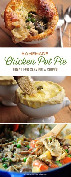 This Chicken Pot Pie recipe is the best kind of savory comfort food, and it's the perfect meal to feed a group.