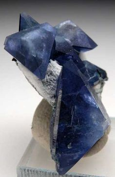 Benitoite  Benitoite Gem Mine, San Benito Co., California thumbnail - 2.9 x 2.2 x 1.4 cm