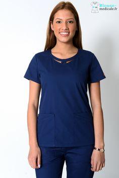 40613f696aaa6 Tunique Medicale Dickies Femme Bleu Marine 85906