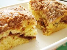Bisquick Coffee Cake. It was always a treat when my mom made this. Funny, I've never made it, not once. :) Gonna' have to treat my kids to this classic.