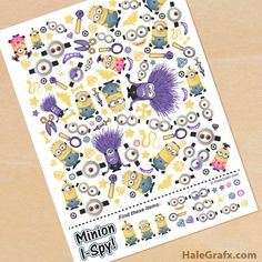 FREE printable Minion I Spy Game