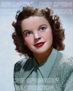 5 DAYS ONLY! 8X10 JUDY GARLAND IN GREEN SWEATER COLOR PHOTO BY CHIP SPRINGER. Please visit my Ebay Store at http://stores.ebay.com/x5dr to see all of your favorite Stars now in glorious color! Message me if you would like me to relist your favorites.