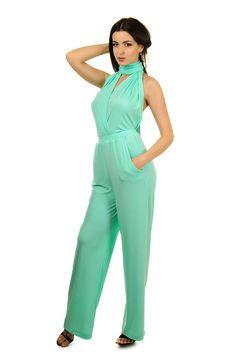 2e75b4c7995e Mint bridesmaids jumpsuit Convertible infinity wrap jumpsuit backless  overall sexy jumpsuit Wedding jump suit
