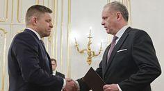 Premiér Robert Fico (vľavo) s prezidentom Andrejom Kiskom