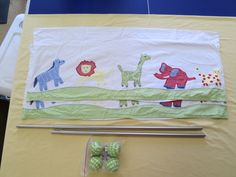 "(2) Children's curtain rods and curtains from Pottery Barn 44"" - $15"
