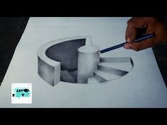 Drawing 3d Hole For Kids How To Draw 3d Circular Hole Trick Art