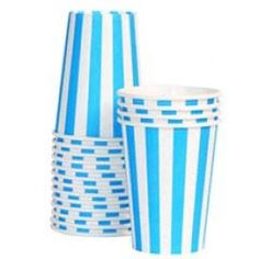 For the fashion-savvy party stylist, these boutique style, baby blue paper cups will be the perfect addition to the perfect party.