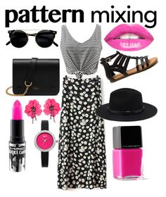 """""""#hottpink"""" by ashton-query on Polyvore featuring Mulberry, Forever 21, MAC Cosmetics, Illamasqua, Lanvin, Oasis and patternmixing"""