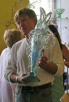 Bořek Šípek - Robert Redford vase Robert Redford, Unique Words, Czech Glass, Glass Art, Bohemian, Vase, Country, Beautiful, Design