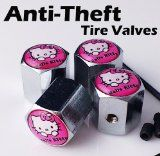 Hello Kitty PINK Anti-Theft Tire Air Stem Caps