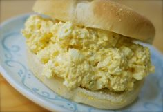 cream cheese egg salad.  Of course nix the sugar or use a packet of sugar substitute.  Also a sugar free relish