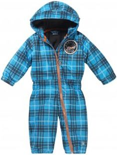 Rucanor Florin Kid's One Piece Snow Suit, 86cm, Blue Plaid | Now £19.95 down from £42.95 | absolute-snow.co.uk