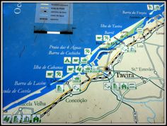 Painel de azulejo com mapa da Ria Formosa - Aldeia da Cacela Velha (Algarve/Portugal)