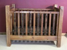 Convertible Barn Wood Baby Crib with Thick Posts — Barn Wood Furniture – Rustic Barnwood and Log Furniture By Vienna Woodworks - Modern Rustic Baby Cribs, Grey Baby Cribs, Rustic Crib, Baby Crib Diy, Baby Crib Mattress, Baby Nursery Diy, Nursery Ideas, Baby Room, Baby Beds