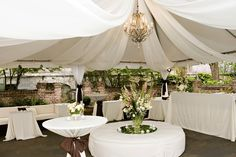 Draping at the William Aiken House - love this chic antique feel