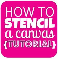How to stencil a canvas - hallway wal art