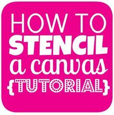 How to stencil a canvas - hallway wal art