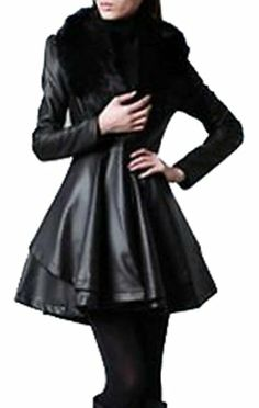 442209add75 Fur Collar Jacket, Cape Jacket, Trench Jacket, Leather Trench Coat, Leather  Coats