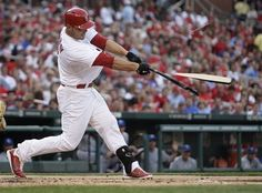 Matt Holliday shatters his bat  6-15-12