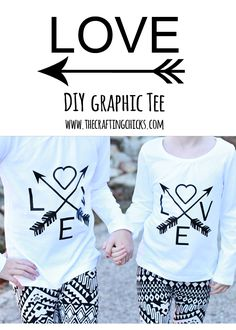 DIY Love & Arrows graphic tee with Cricut Explore - The Crafting Chicks