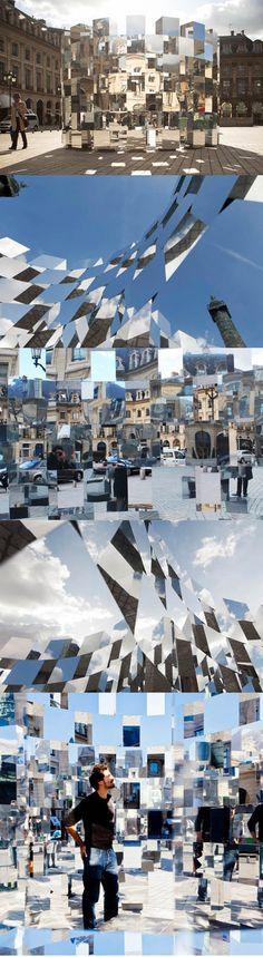 2011 Arnaud Lapierre - Ring Installation / Paris France / mirror