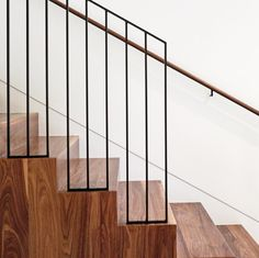 "156 Likes, 7 Comments - smitharc architects (@smitharcarchitects) on Instagram: ""Bellaire Res: steel on walnut... . . . #modern #modernhome #modernart #stairporn #walnut #steel"